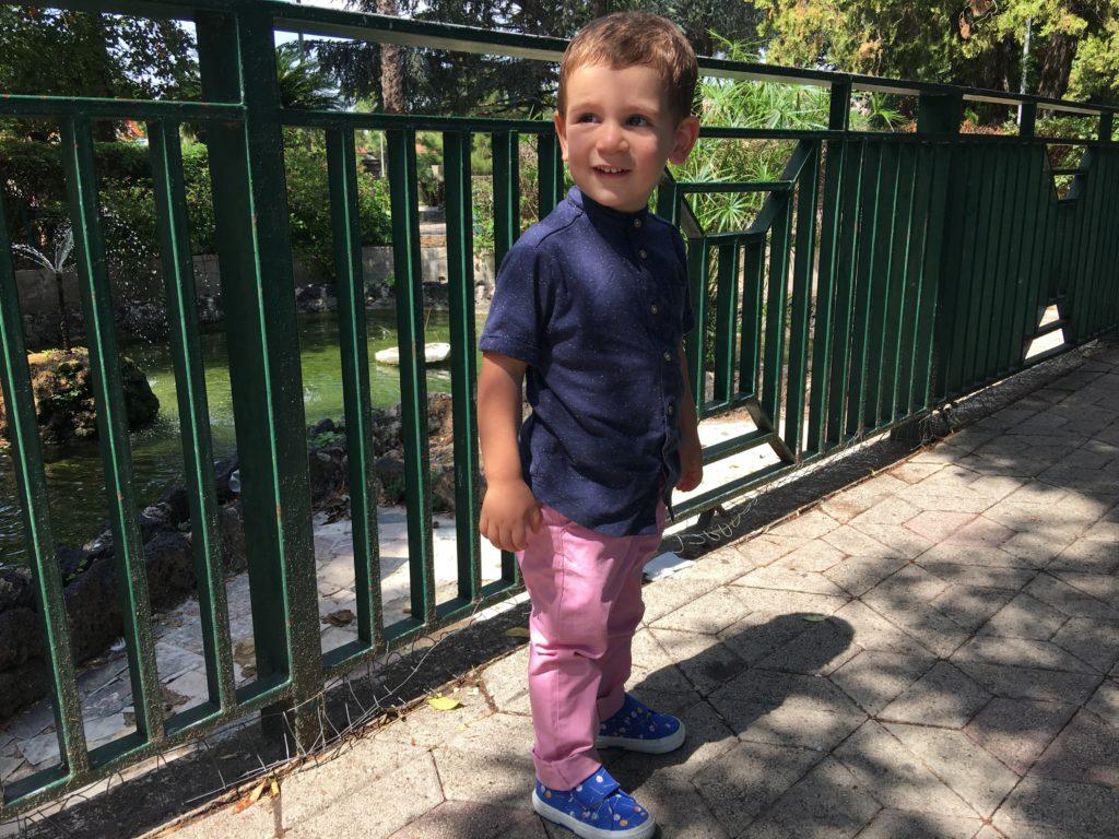 Francesco al parco non si stanca mai