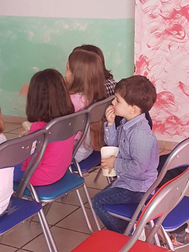 francesco al cineforum per bambini per la prima volta