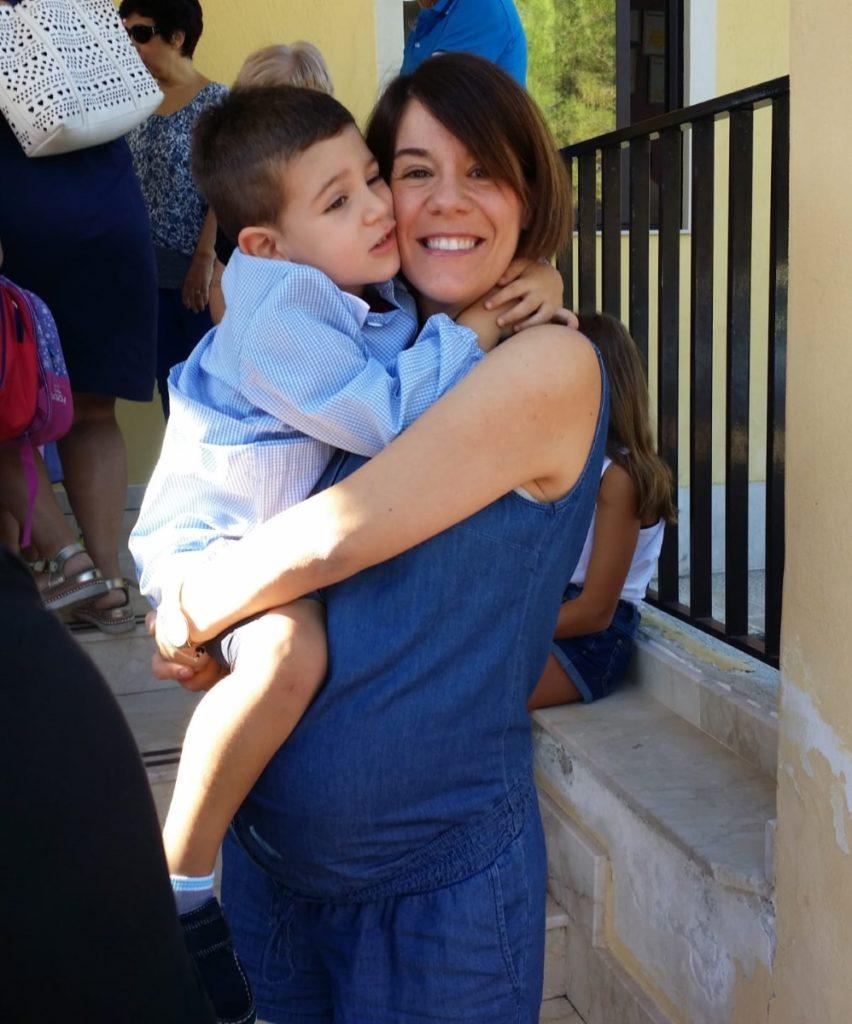 primo giorno di scuola materna_io e Francesco